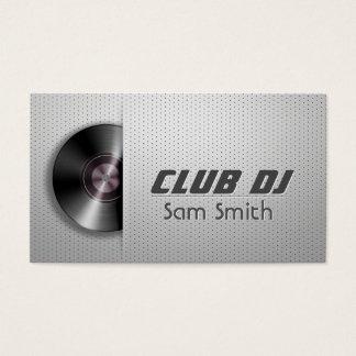 Turntable-VinylRecoder Mischer DJ moderner Visitenkarte