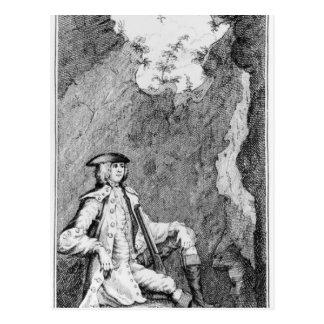 Turpin, wie er in einer Höhle sich verbarg Postkarte