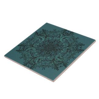 Turquois Mandala-Druck-Fliese Keramikfliese
