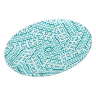 Turquoise butterfly pattern teller
