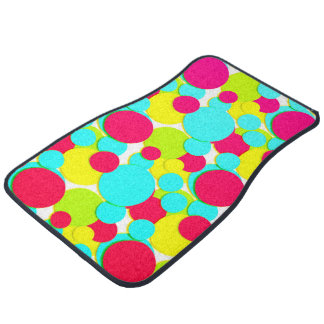 Turquoise, pink dots automatte