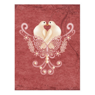 Turteltauben - Liebe-Tauben Postkarten