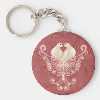 Turteltauben - Liebe-Tauben Standard Runder Schlüsselanhänger