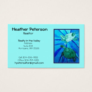 turtle2, Heide Peterson, Grundstücksmakler, Visitenkarte