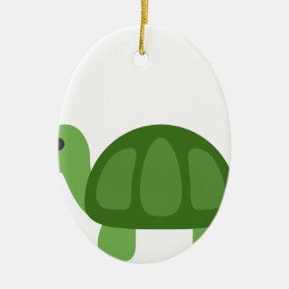 Turtle Emoji Keramik Ornament