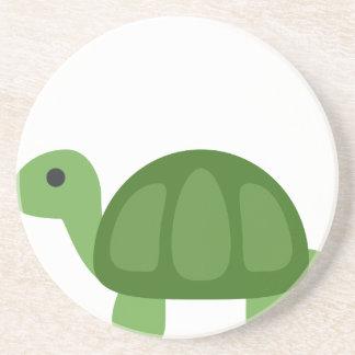 Turtle Emoji Sandstein Untersetzer