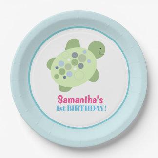 Turtle Reef Sea Turtle Birthday Paper Plate Pappteller