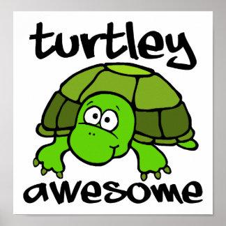Turtley fantastisches lustiges Plakat