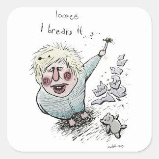Tut Brexit gemeine Brüche es? Quadratischer Aufkleber
