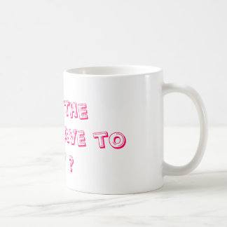 Tut die Königin müssen zahlen Kaffeetasse