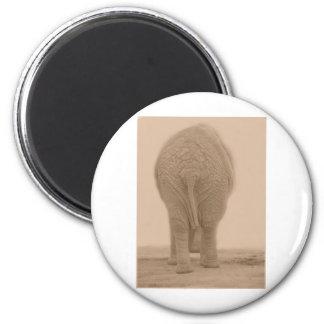 tut meinen wertlosblick großen Sepia Runder Magnet 5,7 Cm