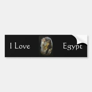 Tutankhamons goldene Maske Autoaufkleber