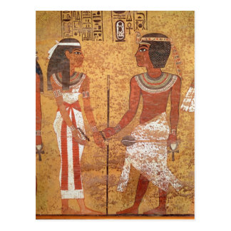 Tutankhamun und seine Ehefrau, Ankhesenamun Postkarte