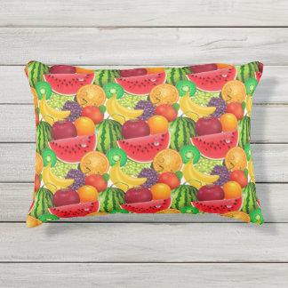 Tutti Frutti helle Melone-Kiwi-Bananen-Frucht Kissen Für Draußen