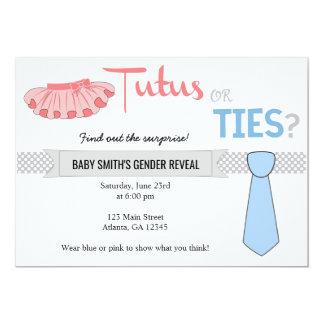 Tutus-oder Krawatten-Geschlecht decken Einladungen