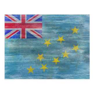 Tuvalu beunruhigte Flagge Postkarte