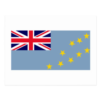 Tuvalu-Flagge Postkarte