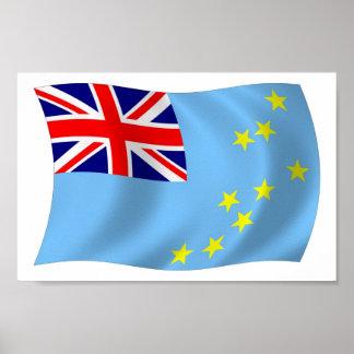Tuvalu-Flaggen-Plakat-Druck Poster
