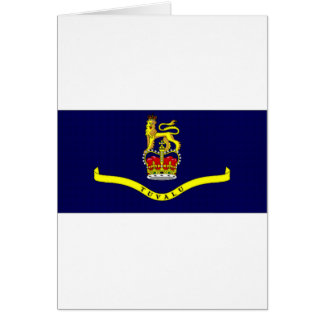 Tuvalu-Gouverneur-allgemeine Flagge Karte
