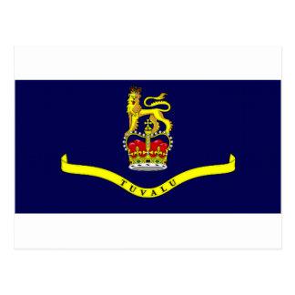 Tuvalu-Gouverneur-allgemeine Flagge Postkarte