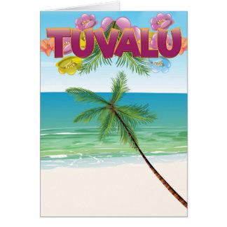 Tuvalu-Inselreiseplakat Karte