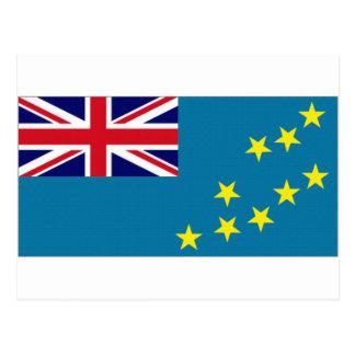 Tuvalu-Staatsflagge Postkarte