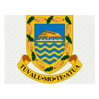 Tuvalu-Wappen Detail Postkarte