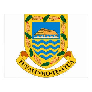 Tuvalu-Wappen Postkarte