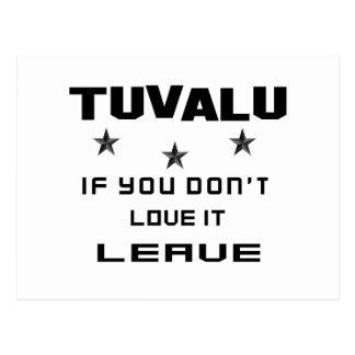 Tuvalu, wenn Sie nicht Liebe es tun, verlassen Postkarte