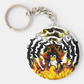 TUX-Feuer-Ziel Schlüsselanhänger