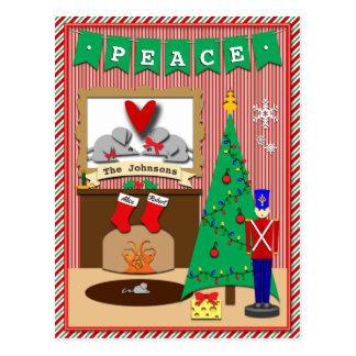 Twas die Nacht vor Weihnachten • 2 Strümpfe Postkarte