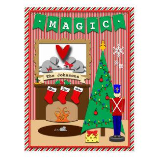 Twas die Nacht vor Weihnachten • 3 Strümpfe Postkarte
