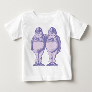 Tweedle Dee und Tweedle Dum mit Tinte geschwärzten Baby T-shirt