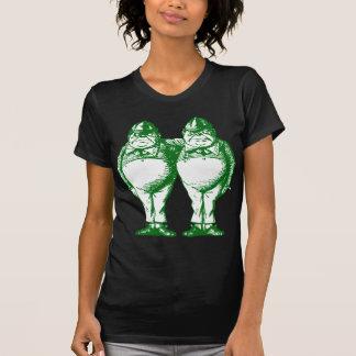 Tweedle Dee und Tweedle Dum mit Tinte geschwärztes T-Shirt