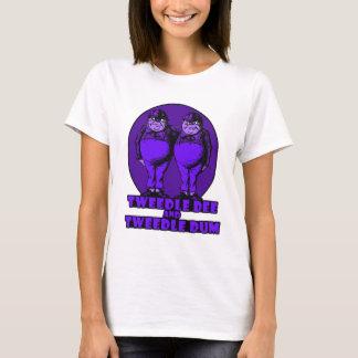 Tweedle Dee und Tweedle lila Dum Logo T-Shirt