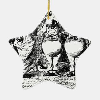 Tweedle Dum und Tweedle Dee Keramik Ornament