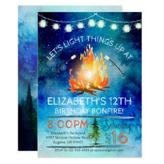 Tween-Feuer-Geburtstags-Party Einladung