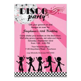 Tween-Mädchen-Disco-Geburtstag 12,7 X 17,8 Cm Einladungskarte