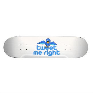 Tweete ich nach rechts 18,7 cm mini skateboard deck