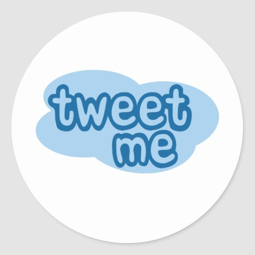 tweete ich (Twitter) Runde Aufkleber