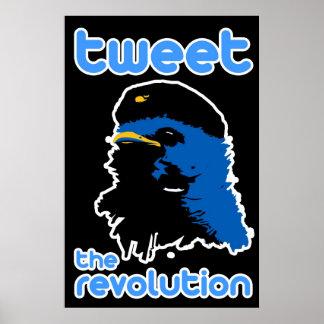 Tweeten das Revolutions-Twitter-Art Che Vogel-Plak Plakatdruck
