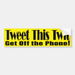 Tweeten dieser Twit GOP-Autoaufkleber