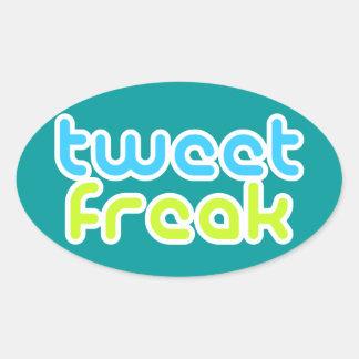 Tweeten Freak Ovaler Aufkleber