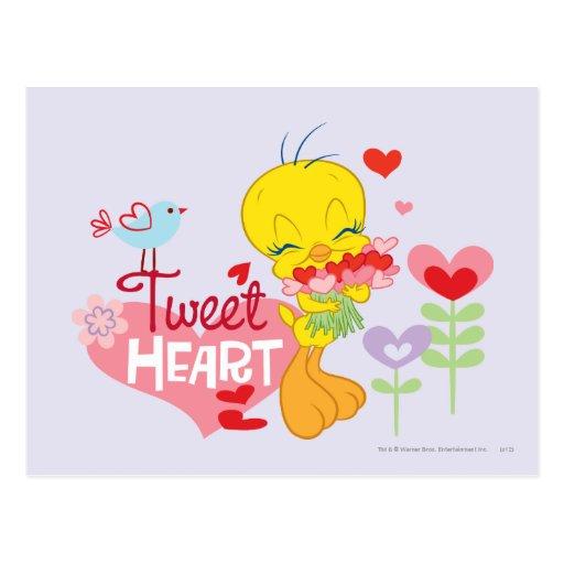 Tweeten Herz Postkarte