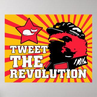 Tweeten Revolutions-Twittermao-Vogel-Plakat
