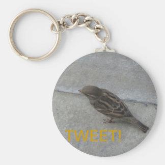 TWEETEN Sie! Vogel keychain Standard Runder Schlüsselanhänger
