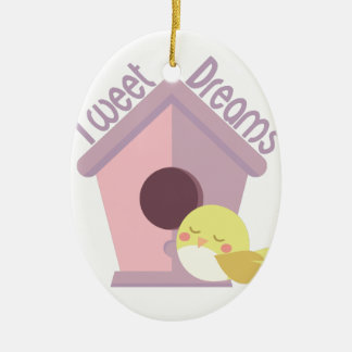 Tweeten Träume Ovales Keramik Ornament