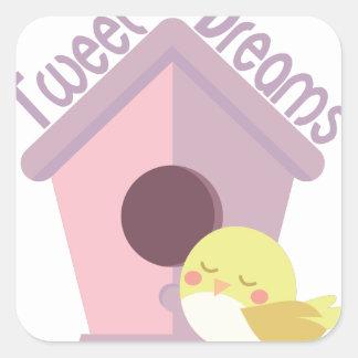 Tweeten Träume Quadratischer Aufkleber