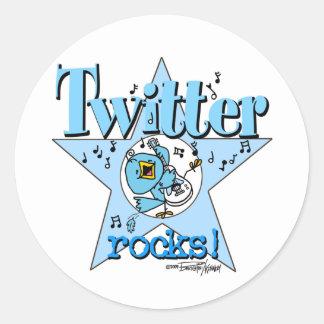 Tweeten Twitter-Felsenaufkleber