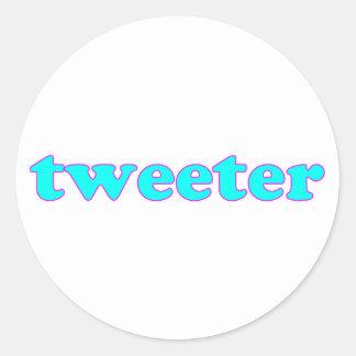 Tweeter Runde Aufkleber
